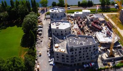 La construction d'un appartement neuf